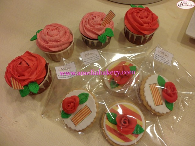 Cupcakes-galletas-decoradas-Sant-Jordi-amelia-bakery_water