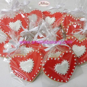 Galletas corazon san valentin corporativas | Amelia Bakery