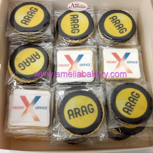Galletas corporativas Arag oblea | Amelia Bakery