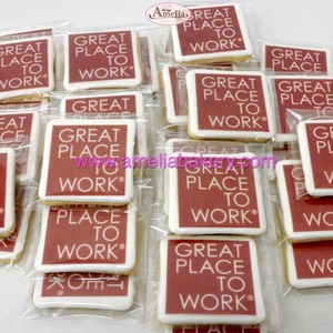 Galletas corporativas con logo | Amelia Bakery
