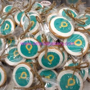 Galletas corporativas Glovo app logo fondant amelia bakery
