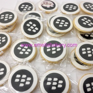 Galletas Corporativas Logo Blackberry | Amelia Bakery