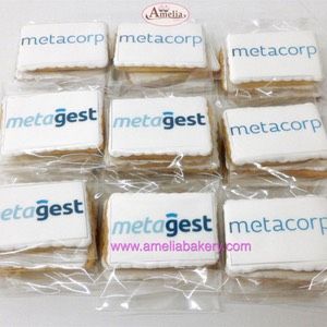 Galletas corporativas metagest metacorp | Amelia Bakery