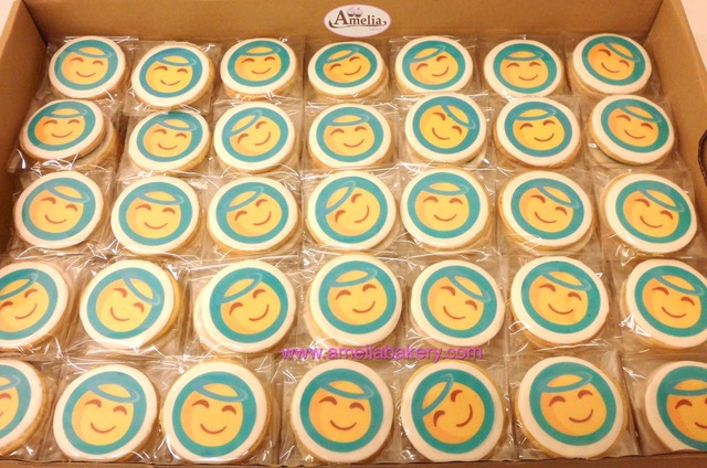 Galletas corporativas Nestle con emoticon | Amelia Bakery