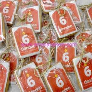 Galletas corporativas con logo Tiendeo www.ameliabakery.com