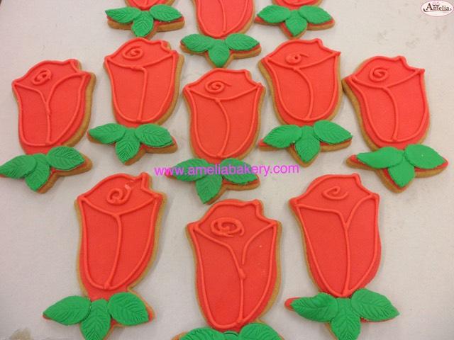 Galletas Decoradas Fondant Rosas Sant Jordi Amelia Bakery