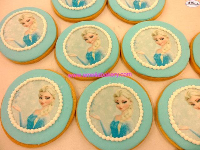 Galletas Decoradas Fondant Frozen Amelia Bakery