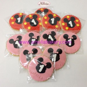 Galletas fondant mickey y minnie | Amelia Bakery