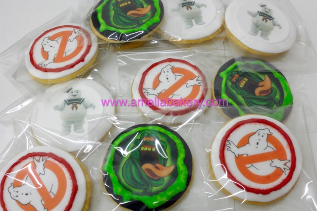 Galletas Ghostbusters oblea www.ameliabakery.com