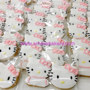 Galletas Hello Kitty fondant www.ameliabakery.com