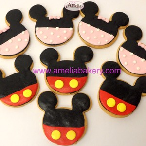 Galletas Mickey y Minnie | Amelia Bakery fondant infantiles