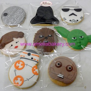 Galletas Star Wars fondant | Amelia Bakery