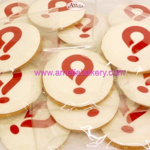 Galletas corporativas Waynabox logo fondant amelia bakery