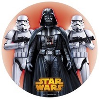 Oblea Star Wars darth vader 20 cmtrs www.ameliabakery.com