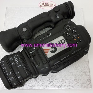 Pastel-tarta-fondant-camara-video-camcorder-tv3-amelia-bakery-web