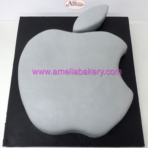 Tarta apple logo mac manzana | Amelia Bakery