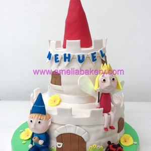 Tarta Ben and Holly infantil  Amelia Bakery 2 pisos pastel decorado