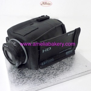 Tarta camcorder camara video | Amelia Bakery