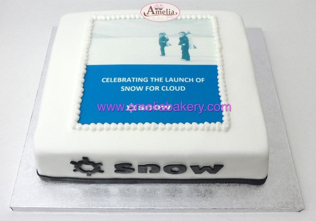 Tarta Corporativa Snow software | Amelia Bakery