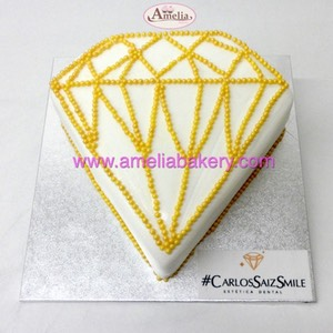 Tarta diamante corporativa fondant | Amelia Bakery