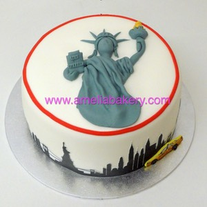 Tarta estatua de la libertad new york skyline | Amelia Bakery