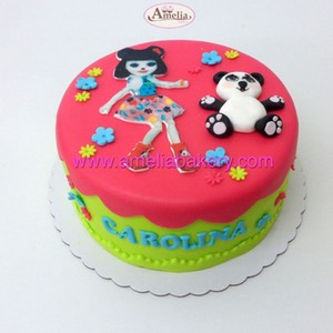 Tarta fondant enchantimals infantil | Amelia Bakery