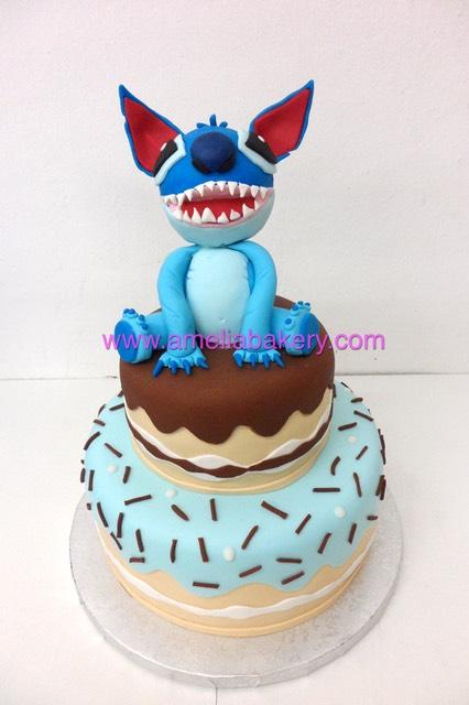 Tarta Fondant Lilo Y Stitch Infantil Amelia Bakery