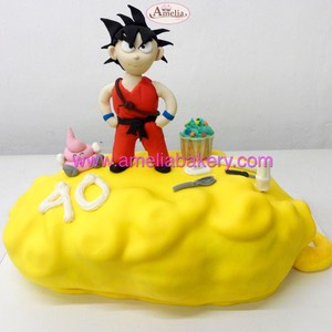 Tarta Goku Dragon Ball Arale Amelia Bakery