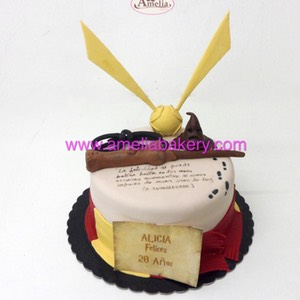 tarta Harry Potter fondant 3d | Amelia Bakery