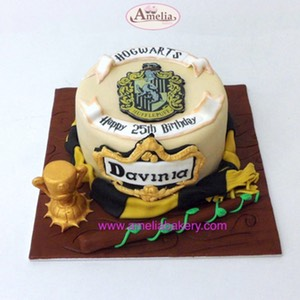 Tarta Harry Potter Hufflepuff | Amelia Bakery