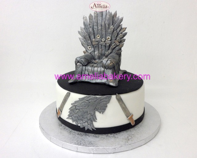 Tarta juego de tronos iron throne game of thrones | Amelia Bakery