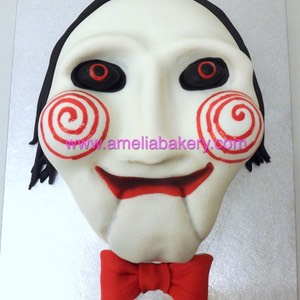 Tarta cara personaje jigsaw pelicula saw movie terror