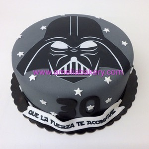 Tarta star wars darth vader oblea | Amelia Bakery