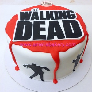 Tarta pastel personalizado The Walking Dead fondant www.ameliabakery.com