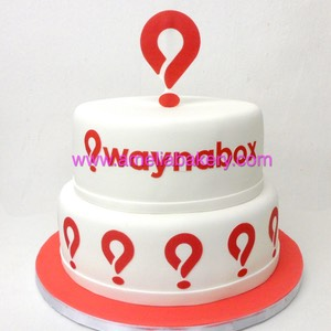 Tarta waynabox corporativa 2 pisos www.ameliabakery.com